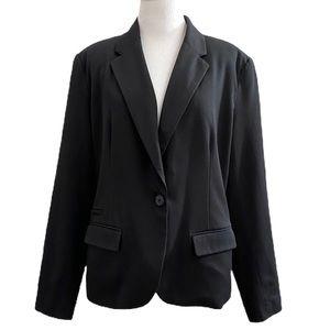 Merona Black Stretch Twill Single Button Blazer
